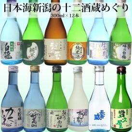 日本海新潟の十二酒蔵めぐりセット 300ml×12本 日本酒セット