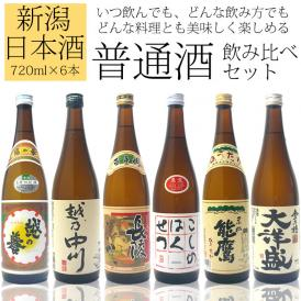 日本酒  新潟・普通酒飲み比べセット720ml×6本[越乃中川、越の誉、長陵、白雪、能鷹、大洋盛]日本酒 普通酒 晩酌 飲み比べ
