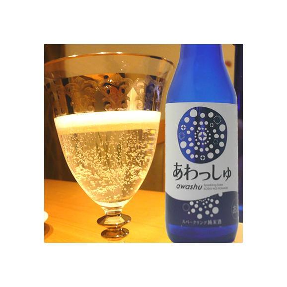 発泡性純米酒 あわっしゅ320ml 越の誉 原酒造03