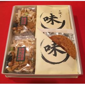 看板商品江戸みやげと、最高級の手焼煎餅「味」の詰め合わせです。