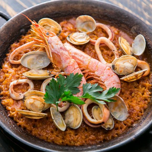 濃厚海老スープで炊く早炊きパエリアセット