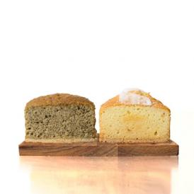 アールグレイのケーキと、ほんのりバニラの香りがするバニラのパウンドケーキです。