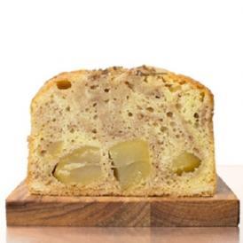 フランス産のマロンクリームの生地に、無添加の栗甘露煮をたっぷりと入れたパウンドケーキです。