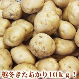 きたあかり約10kg北海道産越冬品 2L〜M混合 ジャガイモ 芋 馬鈴薯 3月頃より順次出荷 常温