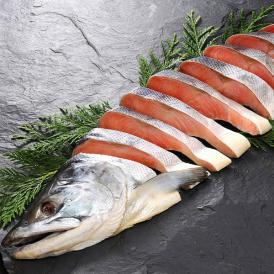 北海道産 雄宝山漬新巻鮭半身 1尾 約1.3kg[個包装][さけ/サケ]【特需】