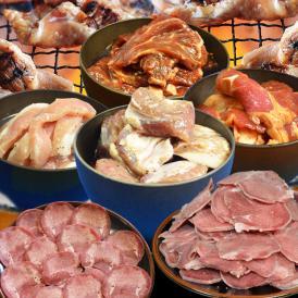 初売り大特売 お肉な新春福袋どっさり6点セット合計約1.9kg(タレ込み)[詰め合わせ/焼肉セットBBQセット][牛カルビ/牛ハラミ/豚さがり/豚とろ/豚タン/牛タン]1~2週間前後で順次出荷]
