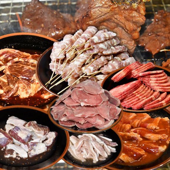 てんこ盛り焼肉セット 5~6人前 [牛タン、カルビ、ハラミ、焼き鳥串など含め7品4kg超] [BBQ バーベキュー]01