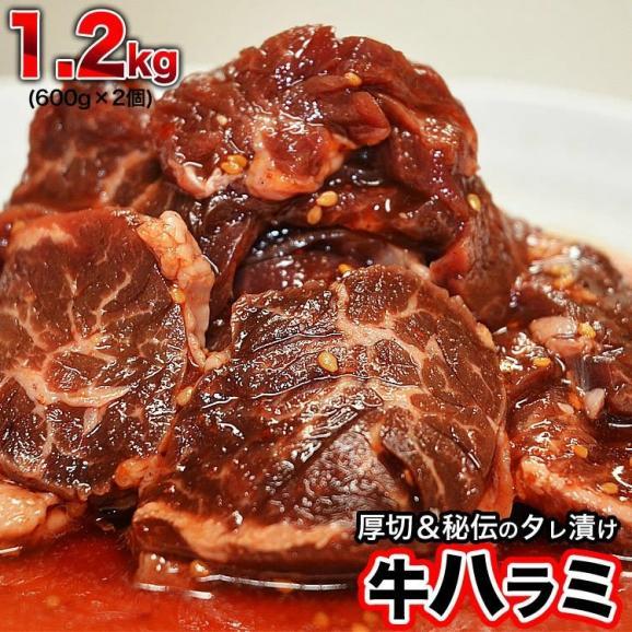 特売 牛ハラミ サガリ 600g×2 タレ込み 厚切 味付き 焼肉 BBQ バーベキュー01