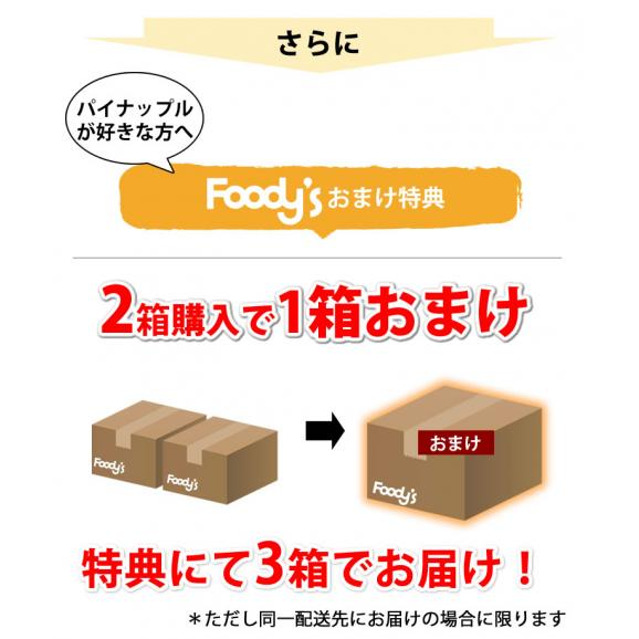 パイナップル パイン グルメパイン 送料無料 2玉(約1.8kg~2kg) フィリピン産 2箱購入で1箱おまけ04