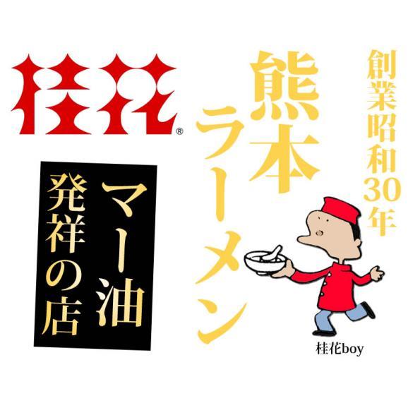 ラーメン 桂花ラーメン 黒マー油 豚骨ラーメン 送料無料 2食 半なま麺 お取り寄せ 熊本ラーメン ご当地ラーメン02