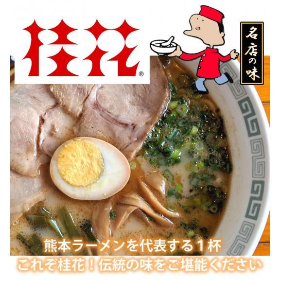 ラーメン 桂花ラーメン 黒マー油 豚骨ラーメン 送料無料 2食 半なま麺 お取り寄せ 熊本ラーメン ご当地ラーメン06