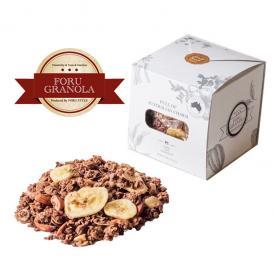 ココア風味のグラノーラにバナナチップスをたっぷり詰めた人気No.1商品。