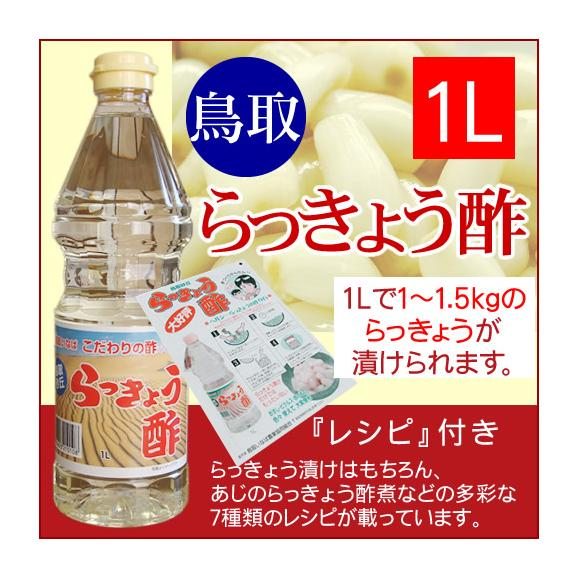 【JA鳥取いなばオリジナル】こだわりのらっきょう酢[1リットル][常温]01
