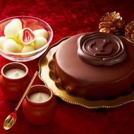 クリスマスケーキ ギフト 魔法の生チョコザッハと壷プリンと苺トリュフのセット