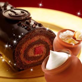 クリスマスケーキ ギフト 神戸ザッハロールと壷プリンのセット