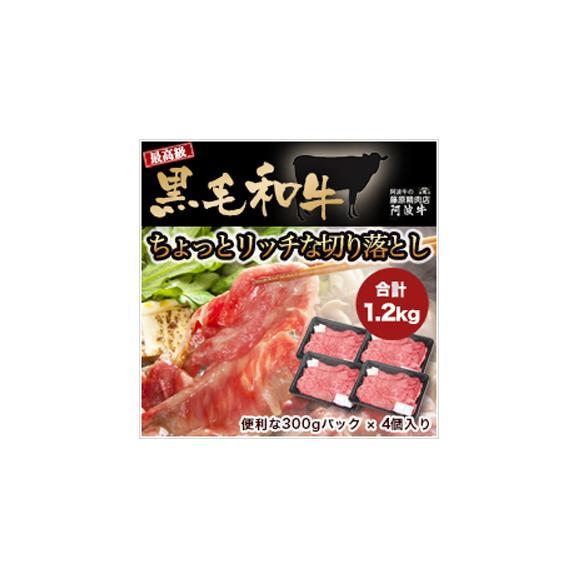 【送料無料】 黒毛和牛ちょっとリッチな切り落とし 1.2kg(300g×4パック)!02