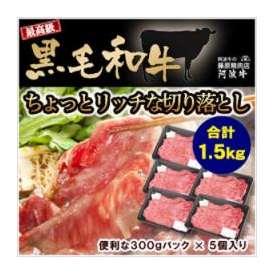 どぉ~んと合計1.5kg! 【送料無料】 黒毛和牛ちょっとリッチな切り落とし(300g×5パック)!