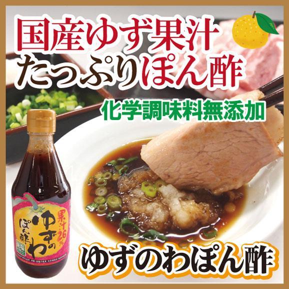 ゆずぽん酢 果汁たっぷり ゆずのわぽん酢 360ml 無添加 減塩ぽん酢 フルーティー01