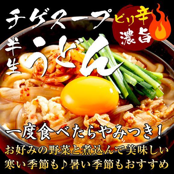 【送料無料】ピリ辛濃旨!チゲスープ半生うどん6人前セット(メール便)01