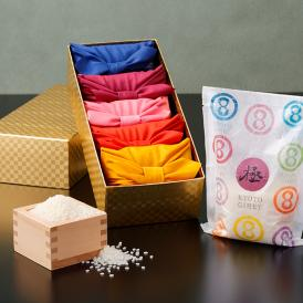 色鮮やかな風呂敷での個包装や、豪華なギフト箱は、大切な贈り物にもぴったり。