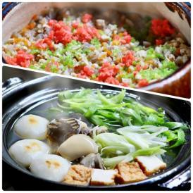国産すっぽんを一匹使用した純度100%のすっぽん鍋とかやくご飯のセット。