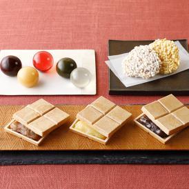 五穀屋を代表する人気菓子3種が入った「きづつみK009」魅力がぎゅっと詰まった手頃なギフトです。