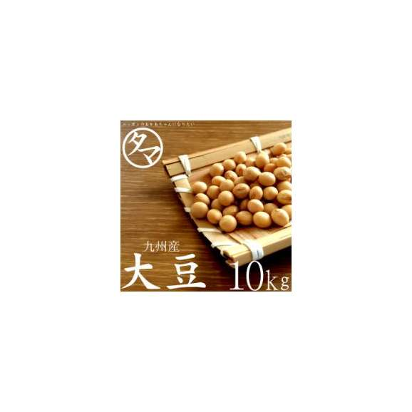 【送料無料】九州産 大豆 10kg (26年度産) 【BCAA ロイシン】01