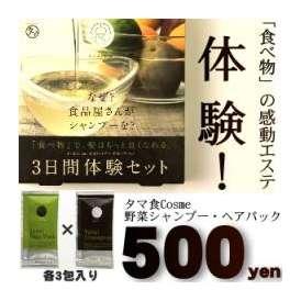YASAI シャンプー&ヘアパックセット 【送料無料500円】 感動の3日間お試し体験!