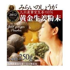 【送料無料】みらいのしょうが粉末 250g 九州産黄金&熟成黒しょうが粉末 (生姜粉末) 【ウルトラしょうが】