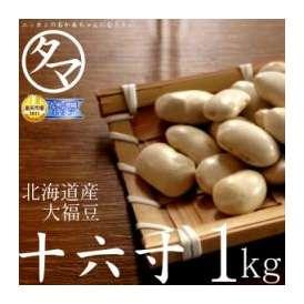北海道産A級品『十六寸・大福豆』北海道で育った綺麗な白い豆 1000g