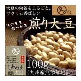 国産煎り大豆 100g (焙煎大豆) 【BCAA ロイシン】