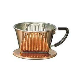 [お取り寄せ商品]1~2人用銅製コーヒードリッパー101-CU/カリタ(Kalita)/グルメコーヒー豆専門加藤珈琲店