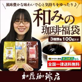 全国一律送料無料【ネコポス】和みの福袋(鯱・クリス・RA/各100g)