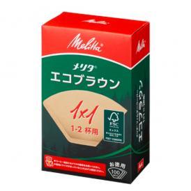 エコフィルターペーパーブラウン1×1G/メリタ(Melitta)/グルメコーヒー豆専門加藤珈琲店