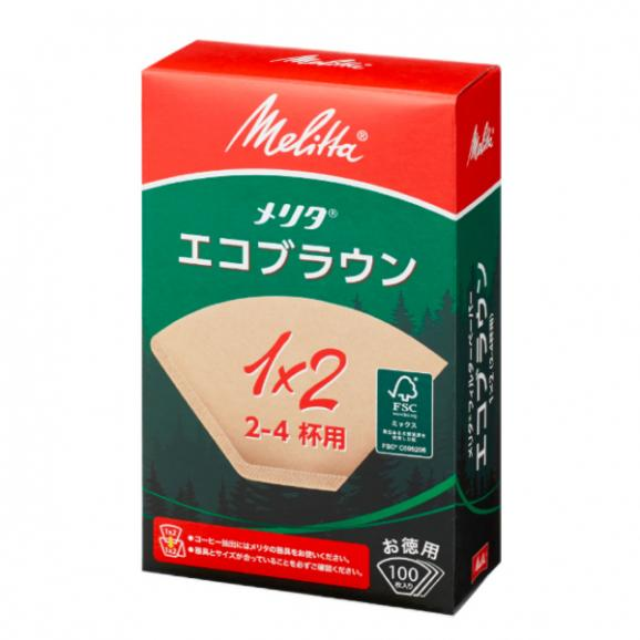 エコフィルターペーパーブラウン1×2G/メリタ(Melitta)/グルメコーヒー豆専門加藤珈琲店01