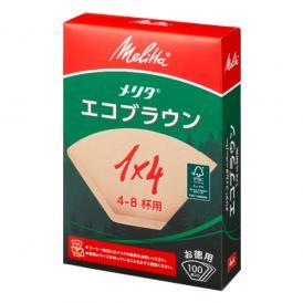 エコフィルターペーパーブラウン1×4G/メリタ(Melitta)/グルメコーヒー豆専門加藤珈琲店