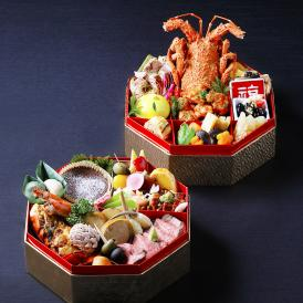 こだわり食材を使用した和風と欧風の和洋競演。重箱に盛り付け済みでお届け致します。