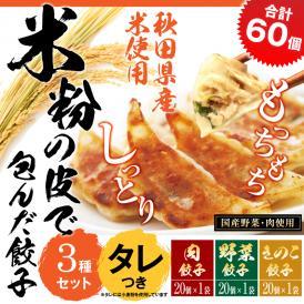 もっちり!しっとりの米粉餃子の嬉しいセット! 【送料・税込】米粉の皮で包んだ餃子60個セット