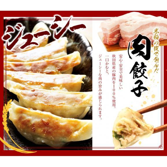 もっちり!しっとりの米粉餃子の嬉しいセット! 【送料・税込】米粉の皮で包んだ餃子60個セット03