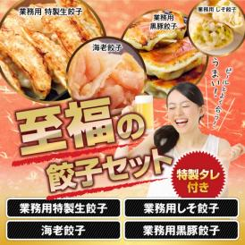 大人気!4種の餃子をセットにしました!【送料無料】至福のひと時餃子セット