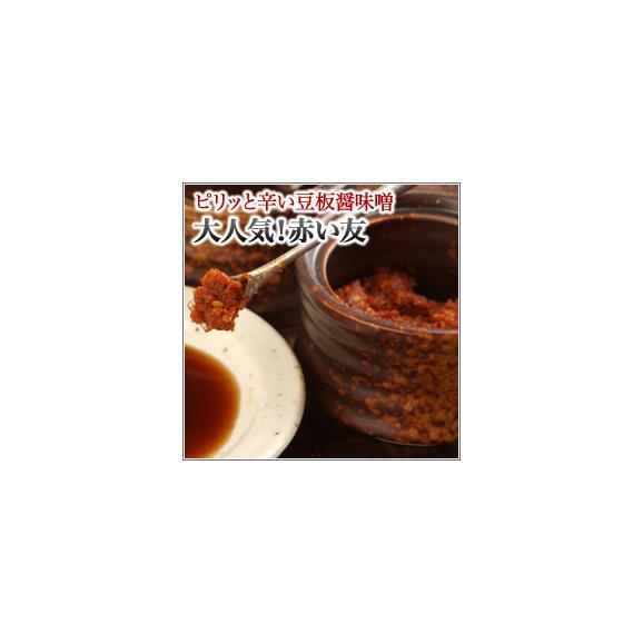 餃子のたれに入れるだけ★味のアクセントにピリッと辛い赤い友(豆板醤味噌)ボリューム満点(30g/袋)01