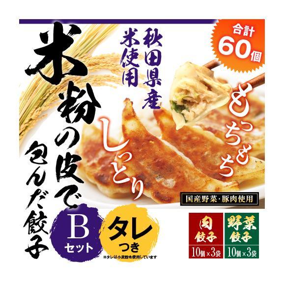 【送料・税込】米粉の皮で包んだ餃子セットB(野菜餃子3袋×肉餃子3袋×タレ10個)01