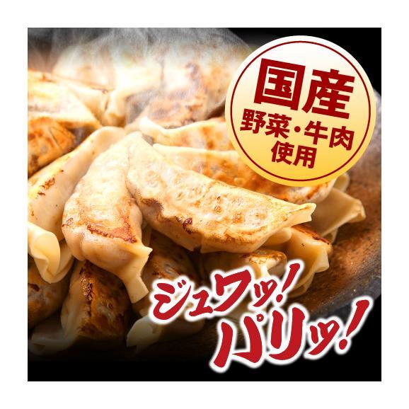 【送料無料・タレ付】研ちゃん餃子の業務用餃子! 牛肉餃子 50個入り×2袋02