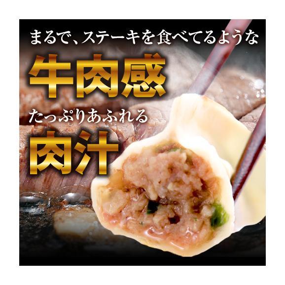 【送料無料・タレ付】研ちゃん餃子の業務用餃子! 牛肉餃子 50個入り×2袋03