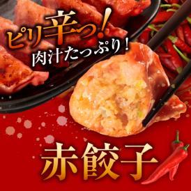 【TVで紹介されたあの人気店の味!】[注文殺到中]業務用 辛い赤餃子 50個袋入り/国産豚肉・国産野菜100%使用!