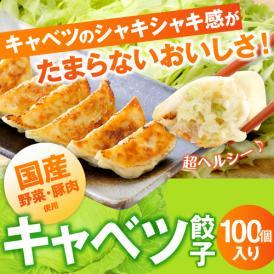 【送料無料】キャベツ餃子 50個入り×2袋 合計100個 赤い友・たれ付き!