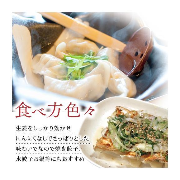 【送料無料】業務用 もちもち生姜餃子(にんにく無し) 300個(50個×6袋)03