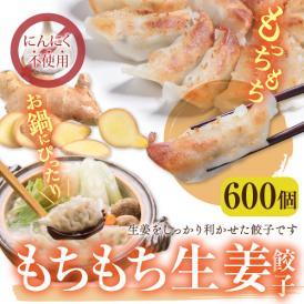 【送料無料】業務用 もちもち生姜餃子(にんにく無し) 600個(50個×12袋)