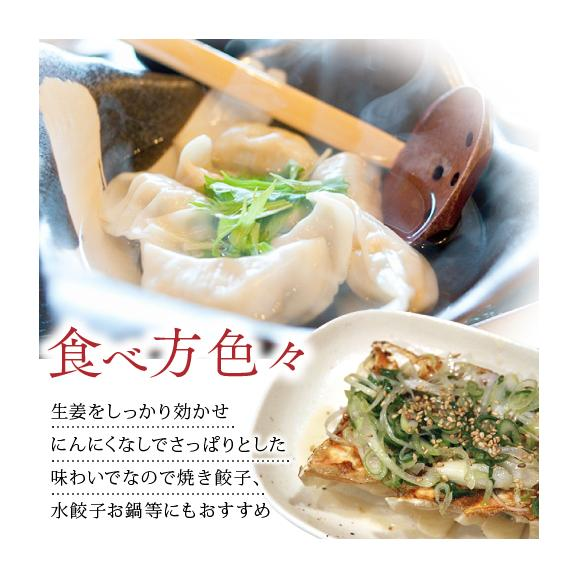 【送料無料】業務用 もちもち生姜餃子(にんにく無し) 600個(50個×12袋)03