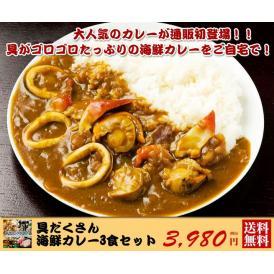 具だくさん海鮮カレー3食セット